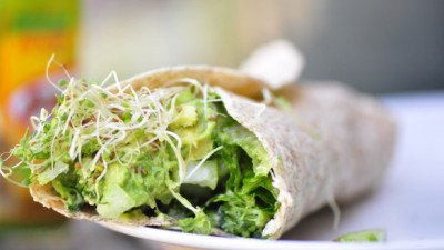 Broccoli Sprout and Guacamole Wrap
