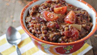 Super Bowl Sunday Quinoa and Lentil Chili