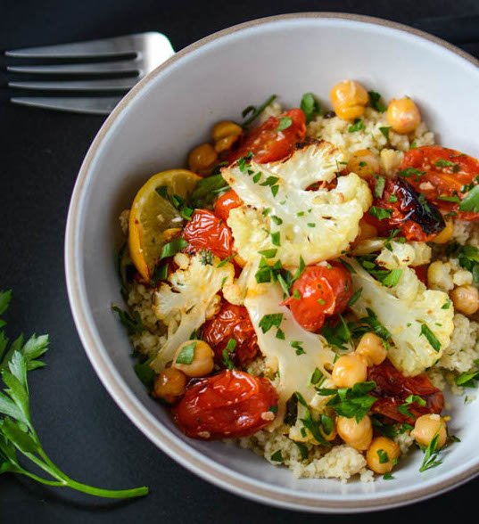 Roasted Cauliflower Bowl | Elissa Goodman
