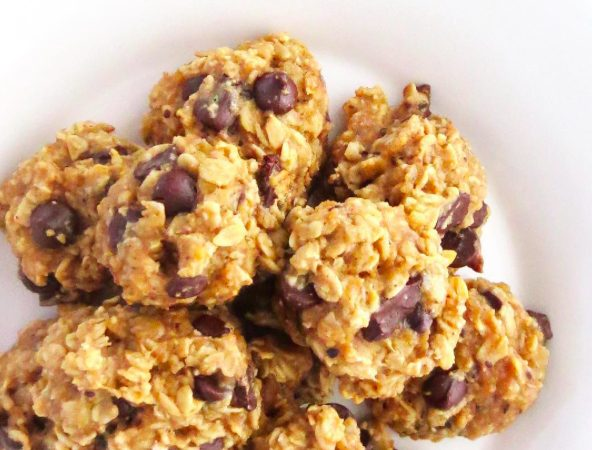 Gluten Free Banana, Peanut Butter, Chocolate Chip Cookies