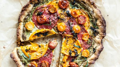 Heirloom Tomato Tart with Herbed Nut Cheese