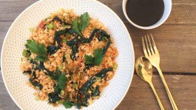 Kimchi Fried Rice with Basmati and Cauliflower