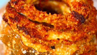 Coconut Battered Squash Rings