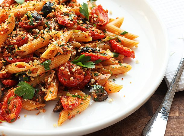 Rosemary, Chickpea, and Olive Pasta