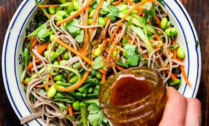 Sweet Potato Soba Noodle Salad
