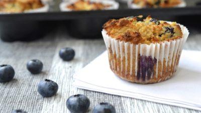 Gluten-Free Blueberry Lemon Dessert Muffins