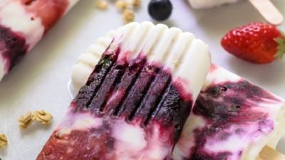 Summer Berry and Coconut Popsicles
