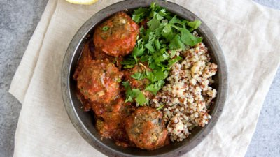 "Jessica's Eggplant and Cauliflower ""Meatballs"""