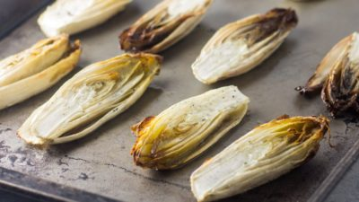 Caramelized Endive with Apply Honey Dressing
