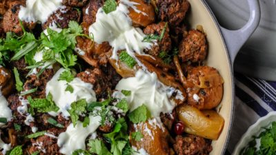 Lamb Meatballs with Cucumber Yogurt Sauce