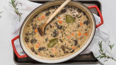 Vegan Mushroom Wild Rice Soup