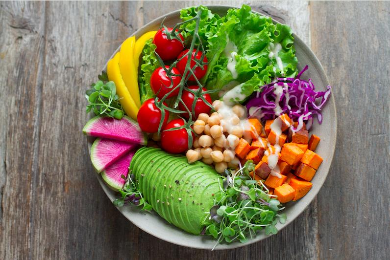 fiber rich salad